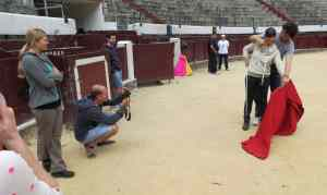 photographing bullfighters